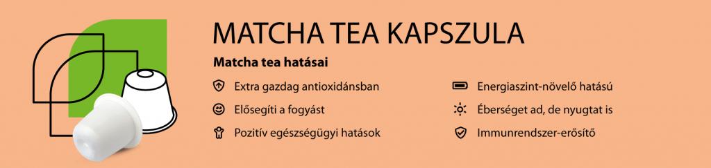 matcha tea kapszula
